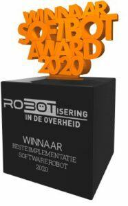 Softbot Award 2020 uitgereikt aan OG NZKG mbv TM7 anonimiseren